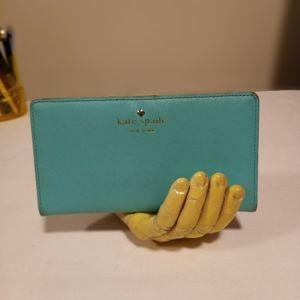 KATE SPADE Cameron Turquoise Slim Bifold Wallet